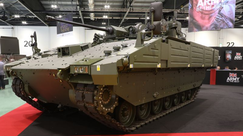 AJAX pictured at DSEI. Credit, Sgt Peter Devine, Crown Copyright