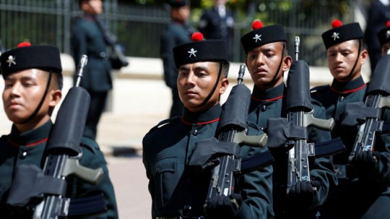 Royal Gurkha Rifles during Prince Harry's wedding