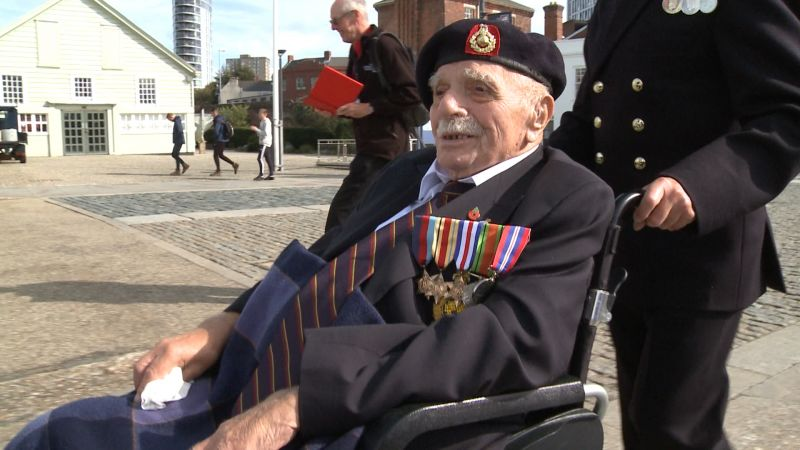 Royal Marine and WW2 veteran Ernie Searling SOURCE BFBS