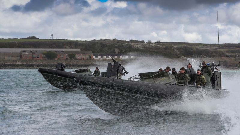 Marines training off the coast of Pembrokeshire (Picture: MOD).