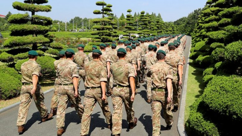 Royal Marines in South Korea