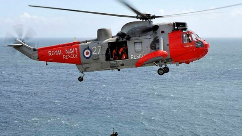 Royal Navy Sea Kings In Final Farewell Flypast