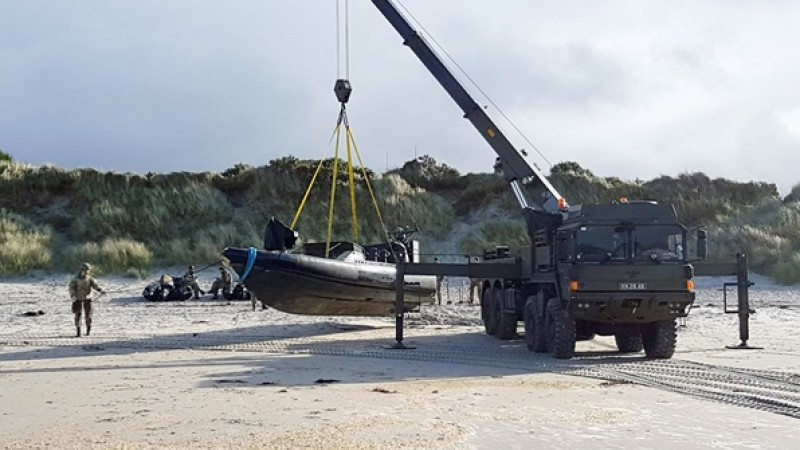SVR crew in action, rescuing a beached ORC