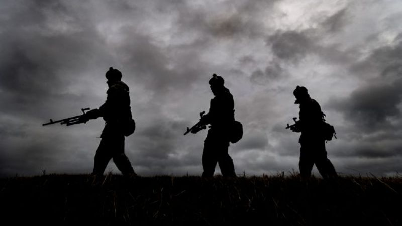 Semi anon 7 SCOTS reservists during training at Barry Buddon