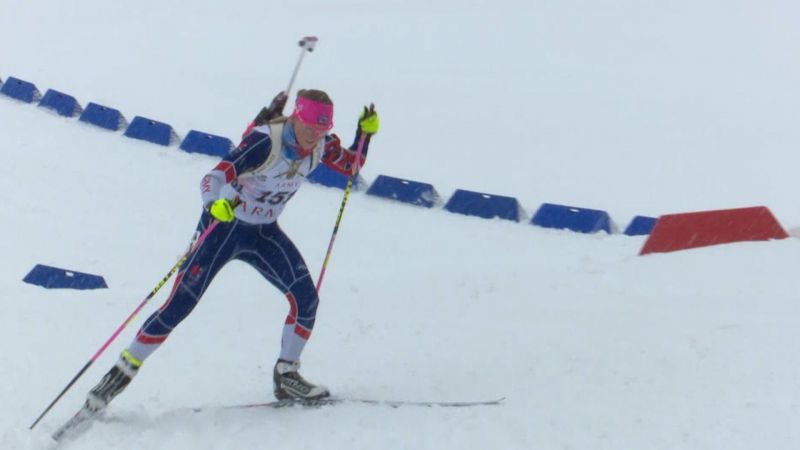 Sgt Amanda Lightfoot competing at Biathlon event in Bavaria