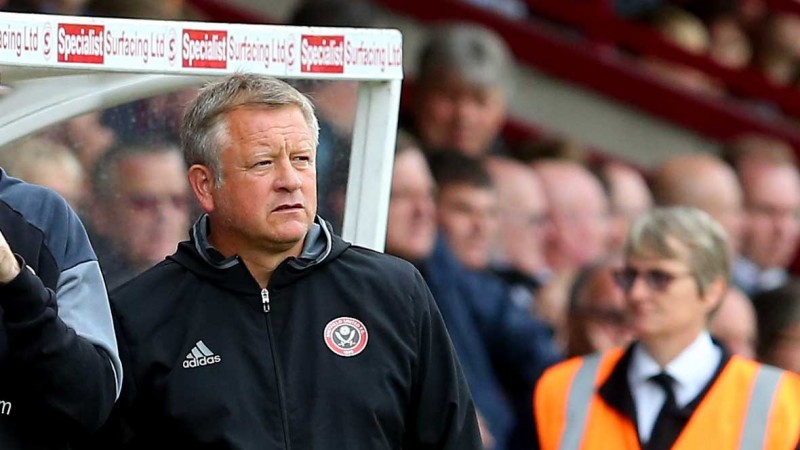 Manager of Sheffield United, Chris Wilder