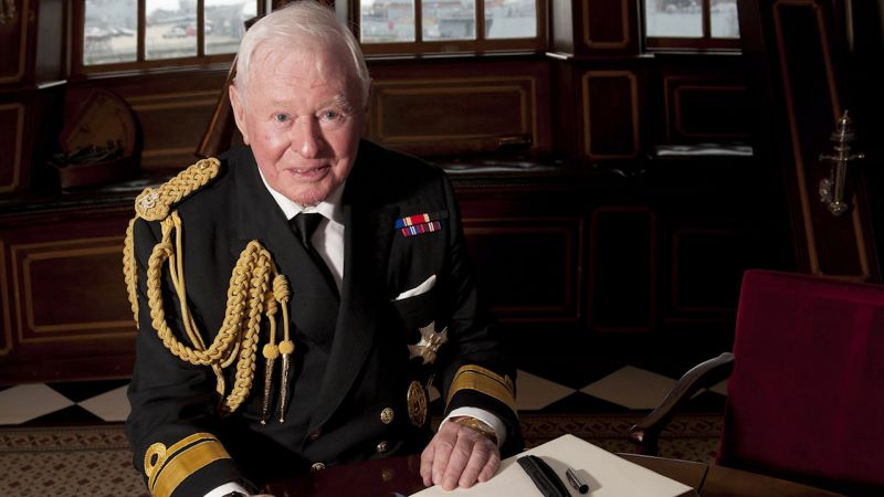 Sir Donald Gosling on HMS Victory in 2012