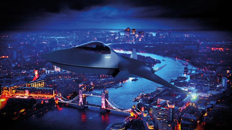 Tempest aircraft flying over London's River Thames CGI image 200720 CREDIT MOD