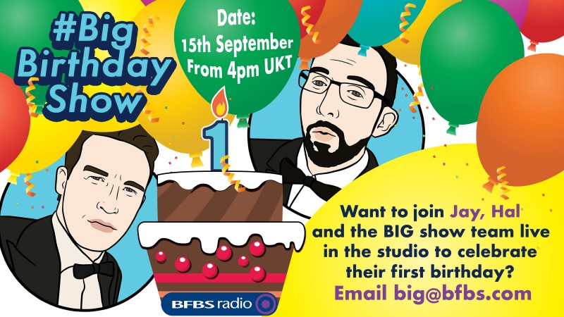 The Big Birthday Show Jay James Hal Stewart Forces Radio BFBS