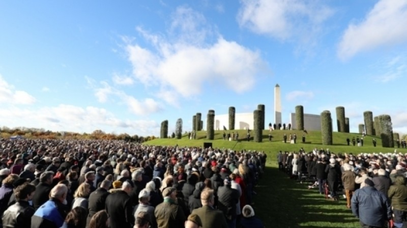 Thousands attended the ceremony (Picture: PA).