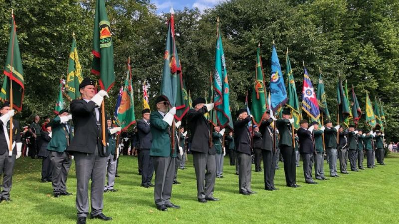 Thousands of veterans at service commemorating op banner 50th anniversary Credit BFBS 170819
