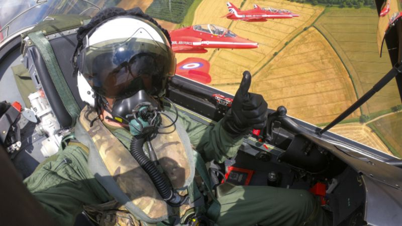 Tim Peake Red Arrows RIAT