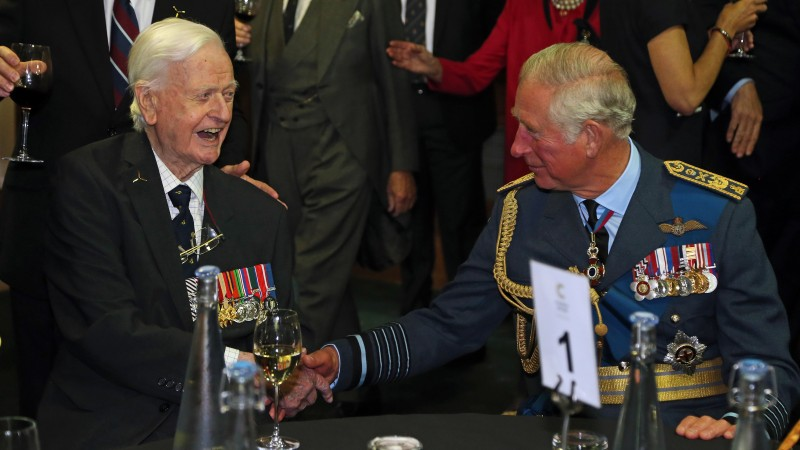 Tom Neil met the Prince of Wales at the 77th anniversary of Battle of Britain events last year.