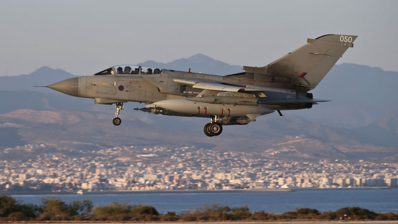 RAF Tornado GR4's on return to RAF Akrotiri Cyprus