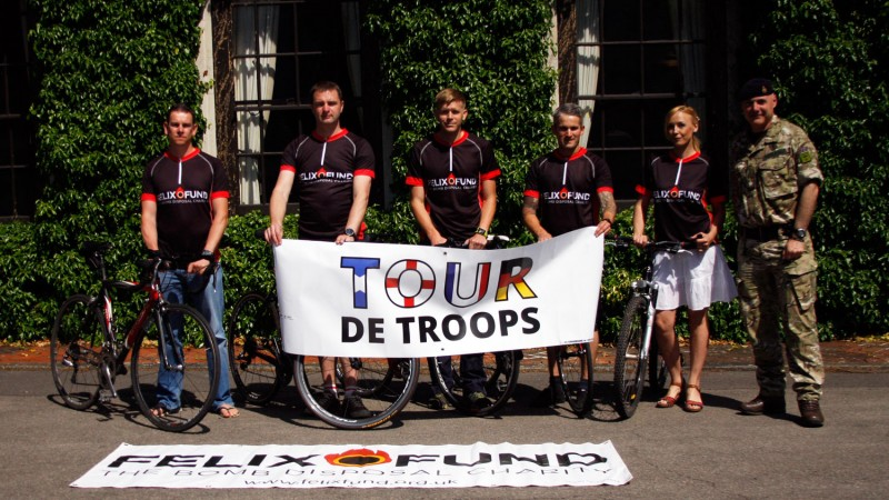 Tour Des Troops: Epic Charity Cycle To Raise Money For Bomb Disposal Charity Felix Fund