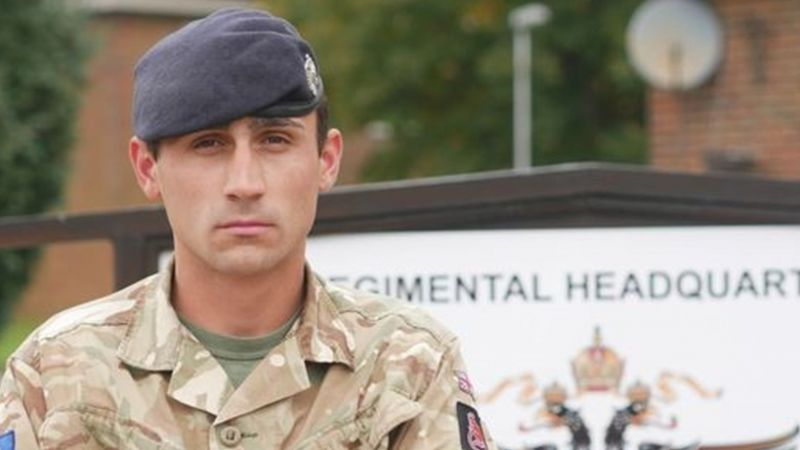 Trooper Ross Woodward's bravery is being recognised (Picture: British Army).