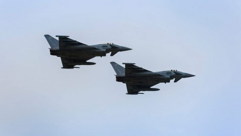Two RAF Typhoons