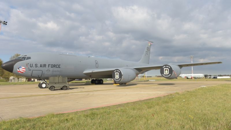 US Air Force KC-135 Stratotanker at RAF Mildenhall
