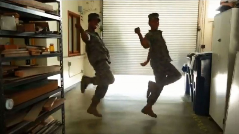 US Marines Japan Okinawa Da Pump U.S.A. Dance Video Challenge Viral Screengrab
