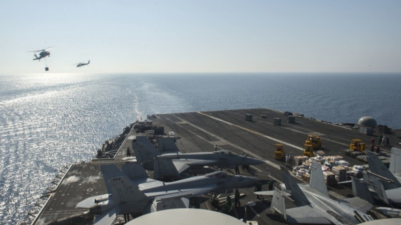Iranian drone buzzes USA aircraft carrier