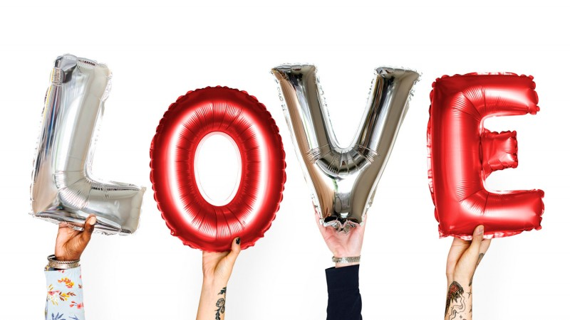 The Big Valentine's Day Show LOVE Romance Balloons Silver Red Credit rawpixel.com