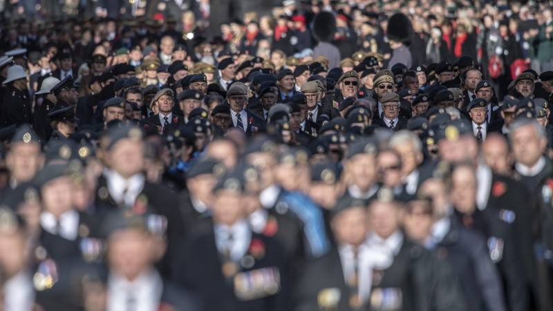 Veterans during Remembrance Sunday 11112018 CREDIT MOD