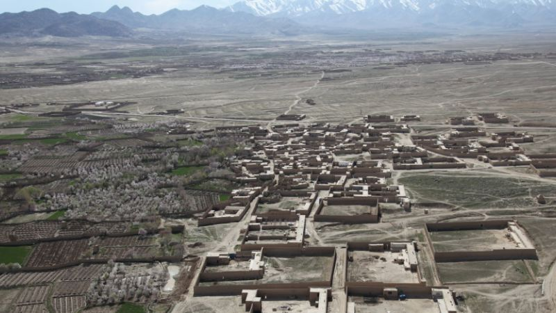 Village near Ghazni in Afghanistan