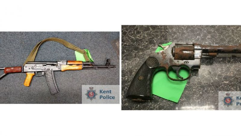 Weapons seized by Kent Police 140219 CREDIT Kent Police