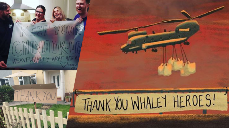Message of thanks from residents of Whaley Bridge