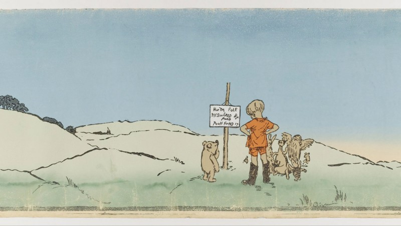 Winnie The Pooh A. A. Milne Writer E. H. Shepard Illustrator Christopher Robin Leads An Expedition Public Domain http://bit.ly/2Ed4MTz