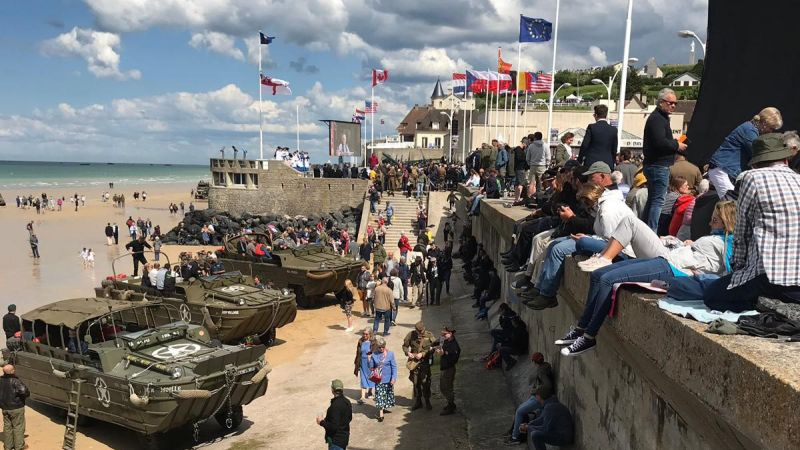 Gold Beach Normandy D-Day 75 2019. BFBS copyright picture