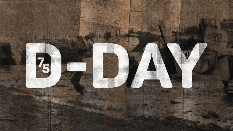 D-Day 75. BFBS graphic