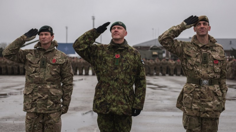 1st Battalion The Royal Welsh have taken over from 5th Battalion The Rifles in Estonia