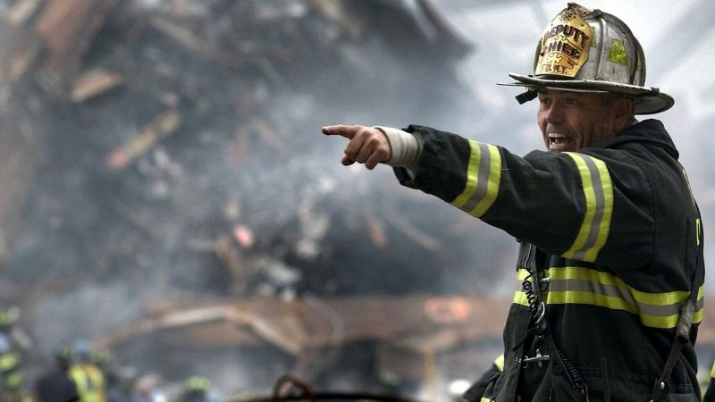 New York Fireman During Aftermath Of 9/11 Attacks
