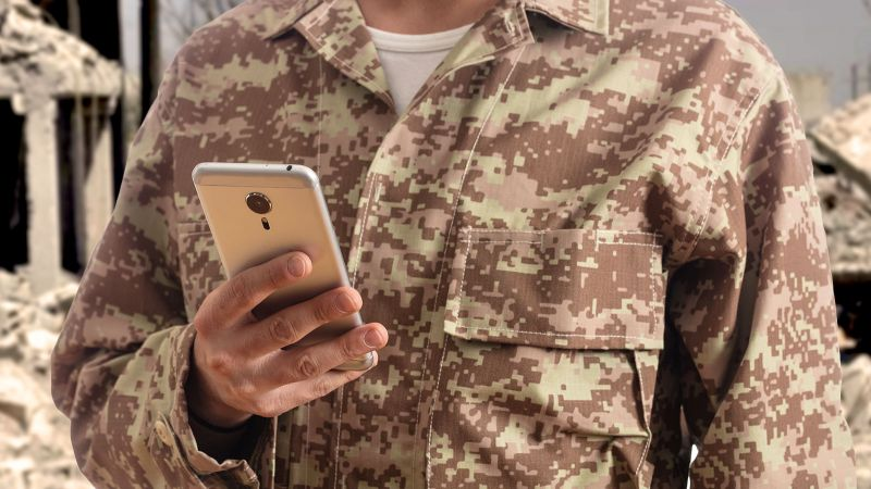 Smartphone on the battlefield