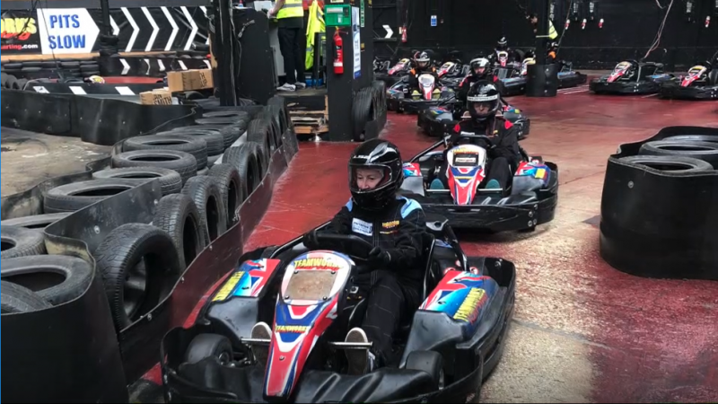 RAF Henlow karts in pits CSE Beneficiary