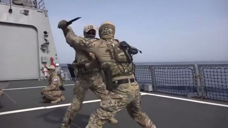 South Korean Special Forces Sword Fight