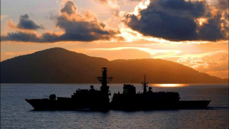 HMS Marlborough South China Sea: Picture MoD/Crown Copyright