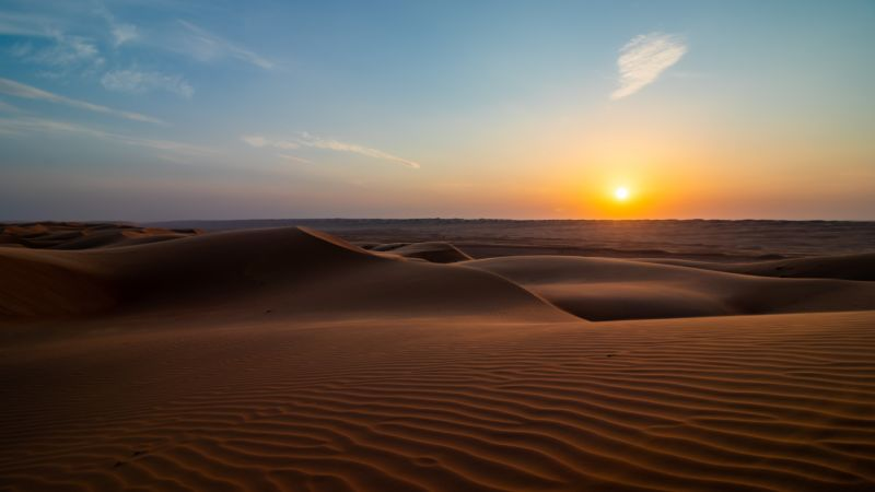 middle east oman sunset