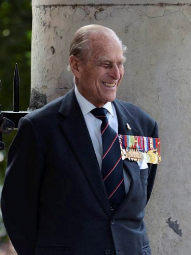 A smile from the Duke of Edinburgh, as events took place in London to mark the 70th anniversary of VJ Day, August 2015