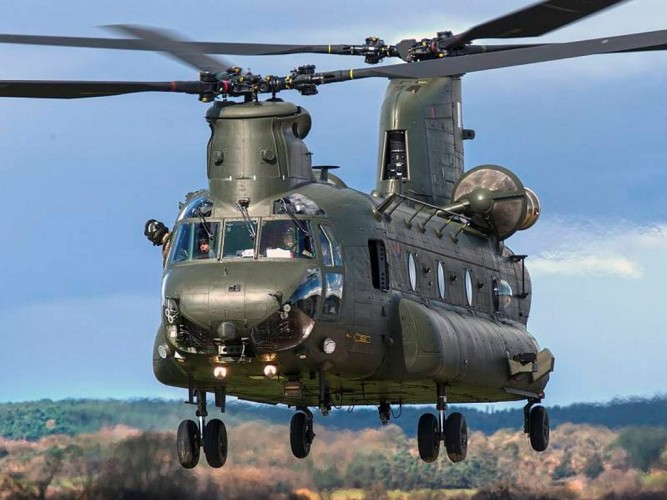 A Chinook HC3 helcopter from RAF Odiham