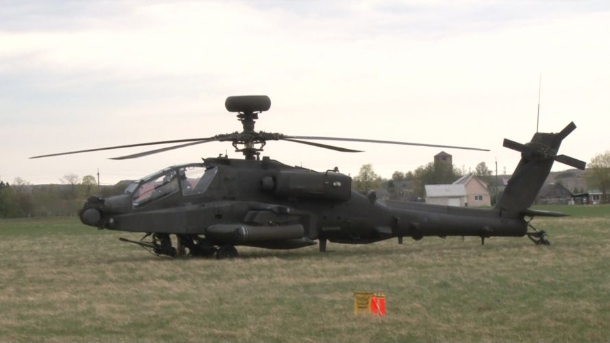 Apaches supported ground forces in Estonia.