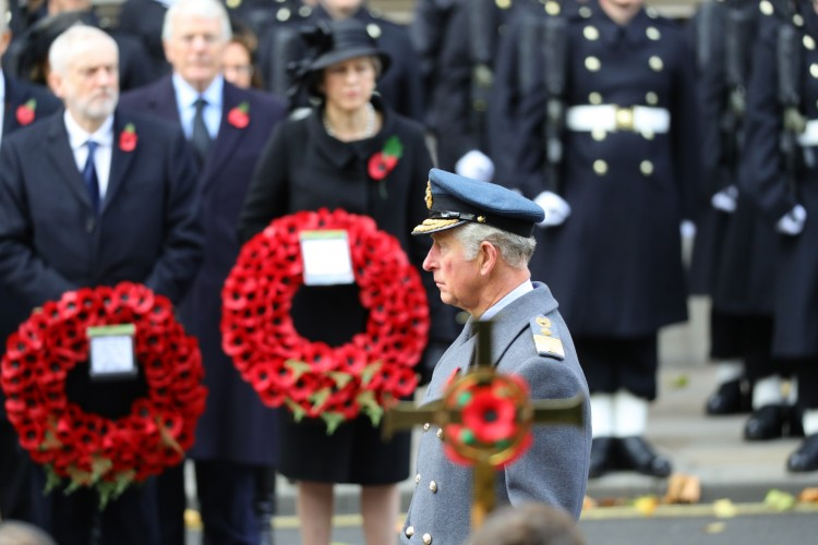 Prince Charles during Remembrance Sunday 2017 at Cenotaph - CREDIT: MOD