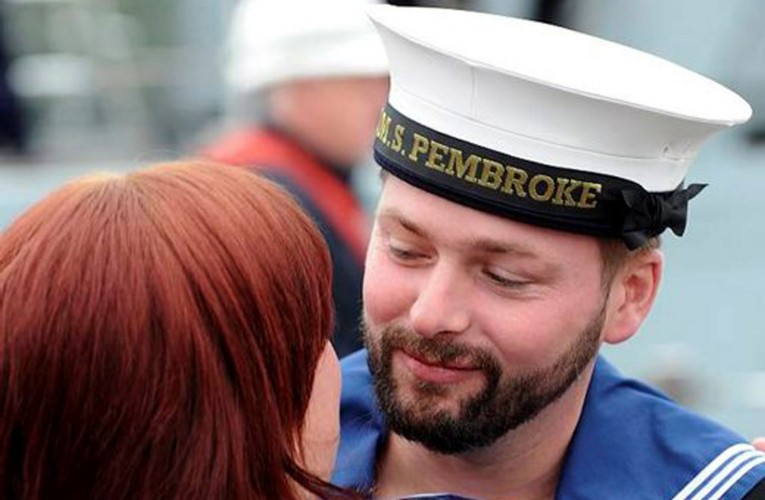 Bearded Royal Navy Sailor From HMS Pembroke