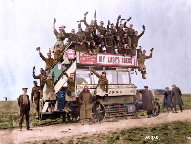 Soldiers are seen off from Toronto as they leave for war (Picture: Vimy Foundation).