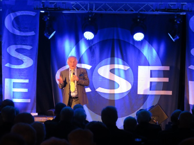 Johnny Ball at Chelsea Pensioners CSE Show