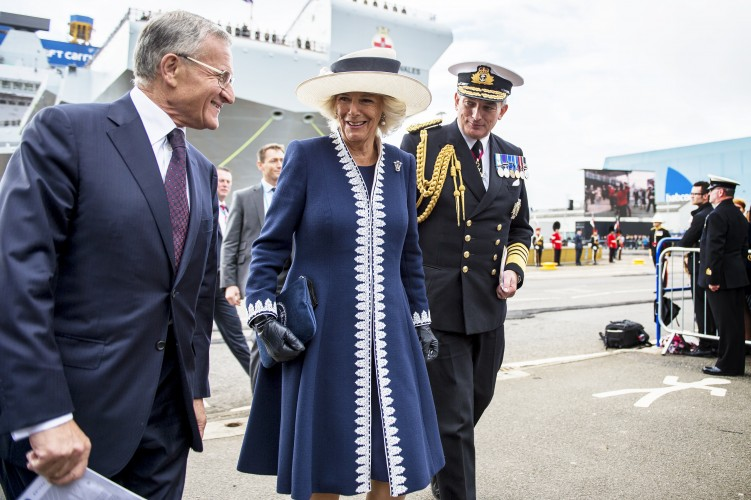 Her Royal Highness The Duchess of Rothesay at the naming ceremony of HMS Prince of Wales