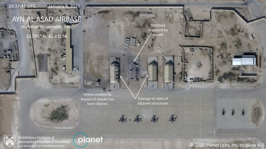 Damage to Al Asad air base 3 160120 CREDIT PLANET LABS You must leave the Middlebury Institute of International Studies at Monterey.jpg