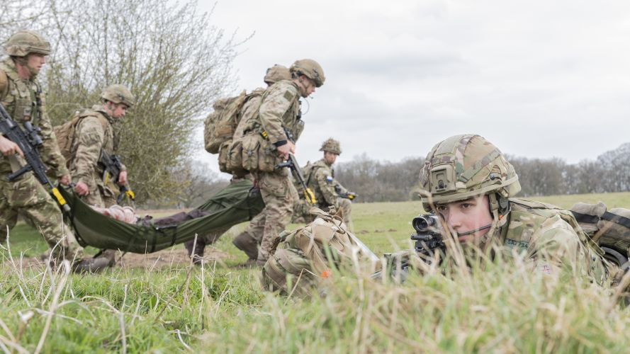 The exercise put the troops' core skills to the test (Picture: MOD).