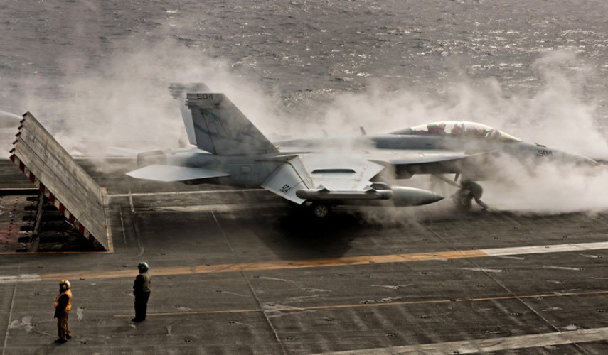 USS George HW Bush Exercise Saxon Warrior Landing